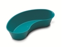 "Picture of Emesis Basins Plastic Emesis basin, aqua 24 ounces 10"" x 4.5"" x 2"" 1/Pkt"