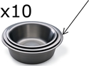 "Picture of Solution Basins - Stainless Steel Stainless Steel, 9.5 quarts 14.5"" x 5"" 10/Pkt"