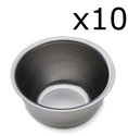 "Picture of Stainless Steel & Plastic Cups Stainless Steel Iodine Cup, 6 ounces 3.4"" x 2"" 10/Pkt"