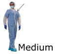 Picture of Clean Room Overalls Cleanroom Overalls medium 25/box