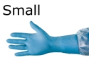 "Picture of 12"" Nitrile-Rubber Examination Gloves 12"" Nitrile Gloves small 1 box of 100 gloves"