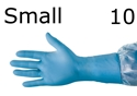 "Picture of 12"" Nitrile-Rubber Examination Gloves 12"" Nitrile Gloves small 1  case of 10 boxes of 100 gloves"