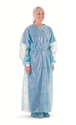 "Picture of Impervious Barrier Gowns Impervious Barrier Gown, Blue, 57"" (145cm) long, 50/Pkt"