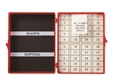 Picture of Magnetic Needle Counters Magnetic and Foam, 40 Count, Solid Lid, Red, Sterile