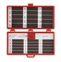 Picture of Magnetic Needle Counters Dual Magnetic w/Blade Remover, 30 count, Solid Lid, Red, Sterile