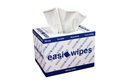 Picture of Cleaning Wipe Dispenser Boxes and Refil Bags Sontara Strong White Turquise Interfold Box, 30 x 42cm
