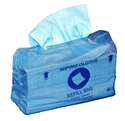 Picture of Cleaning Wipe Dispenser Boxes and Refil Bags Sontara Turquoise Creped Refils, 69gsm, 28 x 42cm