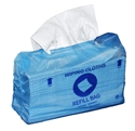 Picture of Cleaning Wipe Dispenser Boxes and Refil Bags Sontara Smooth White Refils, 51gsm, 28 x 42cm