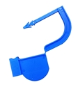 Picture of Blue, EasyTwist Padlock Security Locking Tags Original Size with Indicator Dot - 100/pack
