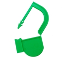 Picture of Green, EasyTwist Padlock Security Locking Tags Original Size with Indicator Dot - 100/pack