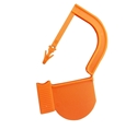 Picture of Orange, EasyTwist Padlock Security Locking Tags Original Size with Indicator Dot - 100/pack