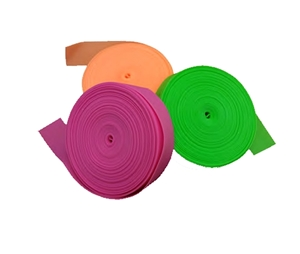 Picture of 2.5cm x 45cm Tourniquet Roll - TOURNY NON-Sterile, Assorted - 3 rolls of each, Blue, Orange, Green, Pink 12rolls, 300/pack