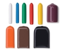 Picture of Tip Caps Round Assorted Sizes, Solid Colours, 100/Pack