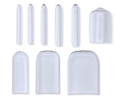 Picture of Tip Caps Round Assorted Sizes, Clear, 100/Pack