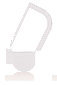 Picture of White, EasyTwist Padlock Security Locking Tags - 100/pack