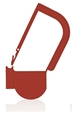 Picture of Red, EasyTwist Padlock Security Locking Tags - 500/pack