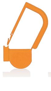 Picture of Orange, EasyTwist Padlock Security Locking Tags - 100/pack