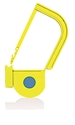 Picture of Yellow, EasyTwist Padlock Security Locking Tags with INDICATOR DOT - 500/pack