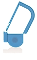 Picture of Light Blue, EasyTwist Padlock Security Locking Tags with INDICATOR DOT - 500/pack