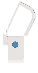 Picture of White, EasyTwist Padlock Security Locking Tags with INDICATOR DOT - 100/pack