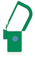 Picture of Green, EasyTwist Padlock Security Locking Tags with INDICATOR DOT - 500/pack