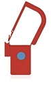 Picture of Red, EasyTwist Padlock Security Locking Tags with INDICATOR DOT - 500/pack