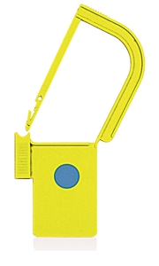 Picture of Yellow, EasyTwist Padlock Security Locking Tags with INDICATOR DOT - 100/pack