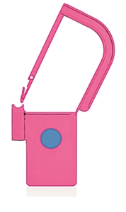 Picture of Pink, EasyTwist Padlock Security Locking Tags with INDICATOR DOT - 100/pack