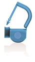 Picture of Light Blue, EasyTwist Padlock Security Locking Tags Original Size with Indicator Dot - 100/pack