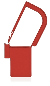 Picture of Red, EasyTwist Padlock Security Locking Tags - 100/pack