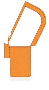 Picture of Orange, EasyTwist Padlock Security Locking Tags - 500/pack
