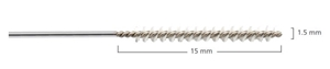 Picture of ARC Reusable Micro Stainless Steel Channel Cleaning Brush, 1.5mm x 30cm, 6/Pack