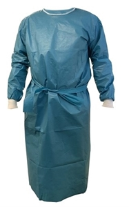 Picture of Medium Chemotherapy Laminated Stitched Gown, 50/Pack