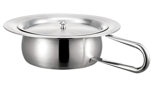 Picture of Stainless Steel Round Bedpan with Cover, 1/Pack