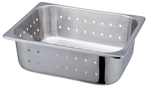 Picture of Stainless Steel Perforated Food Service Container 1/2 Size, 1 Pack