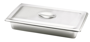Picture of Stainless Steel Catheter & Instrument Tray (w/cover & flush handle), 1/Pack