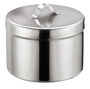 Picture of Stainless Steel Needle or Ointment Jar with Cover (raised handle), 1/Pack